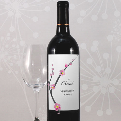 Cherry Blossom Wine Label (Pack of 1)