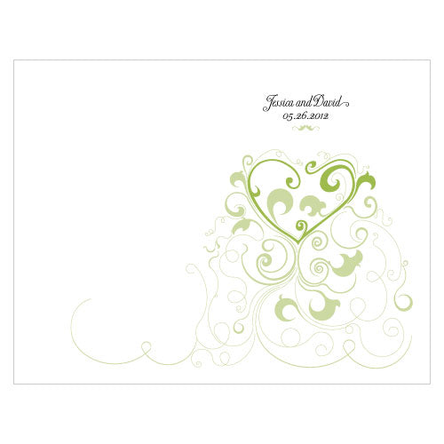 Heart Filigree Program Grass Green (Pack of 1)