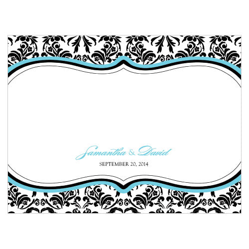 Love Bird Damask Note Card Berry (Pack of 1)