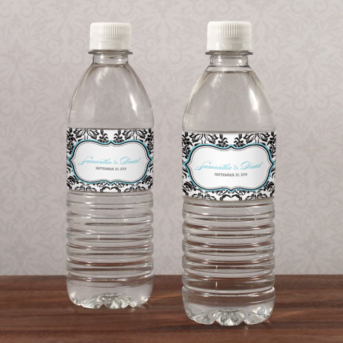 Love Bird Damask Water Bottle Label Berry (Pack of 1)
