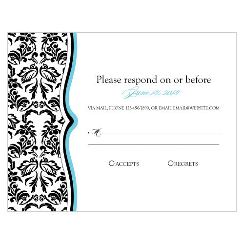 Love Bird Damask RSVP Berry (Pack of 1)