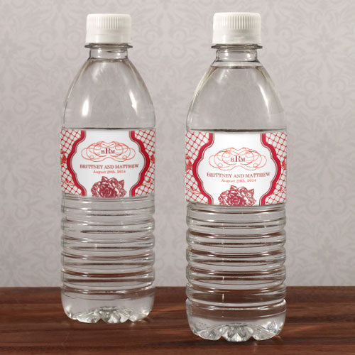 French Whimsy Water Bottle Label Vintage Pink (Pack of 1)