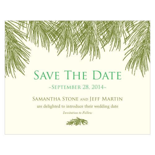Evergreen Save The Date Card Berry (Pack of 1)