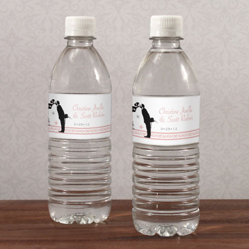Vintage Hollywood Water Bottle Label Vintage Pink (Pack of 1)