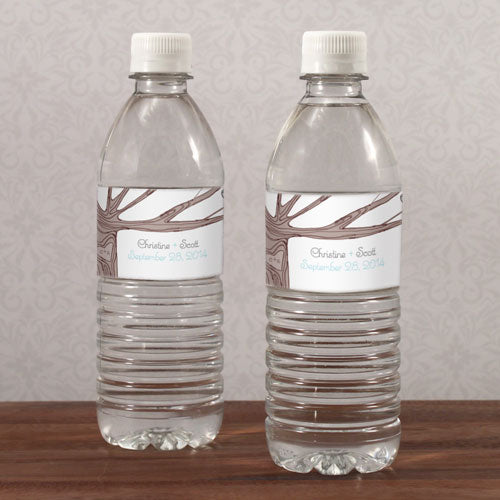 Heart Strings Water Bottle Label Vintage Pink (Pack of 1)