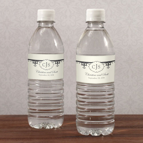 Fleur De Lis Water Bottle Label Berry (Pack of 1)