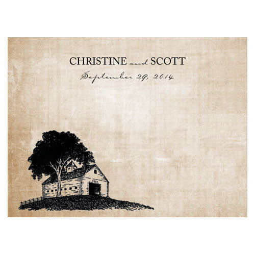 Rustic Country Note Card Berry (Pack of 1)