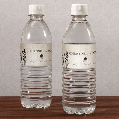 Rustic Country Water Bottle Label Berry (Pack of 1)