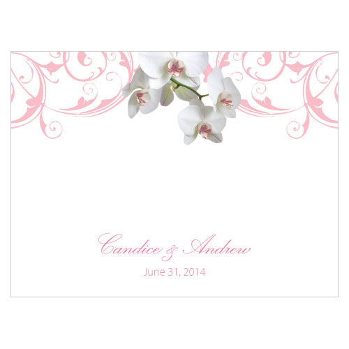 Classic Orchid Note Card Plum (Pack of 1)