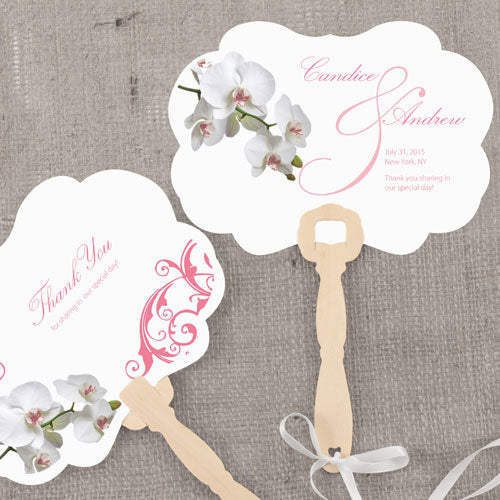 Classic Orchid Personalized Hand Fan Plum (Pack of 1)