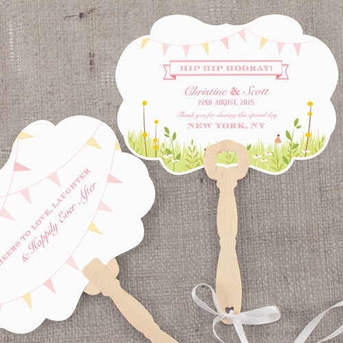 Homespun Charm Personalized Hand Fan Sweet (Pack of 1)