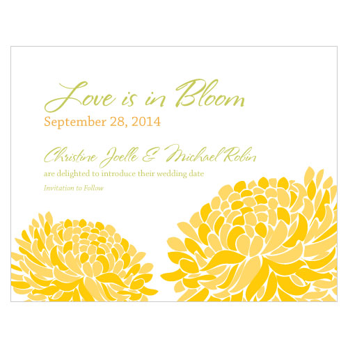Zinnia Bloom Save The Date Card Plum (Pack of 1)