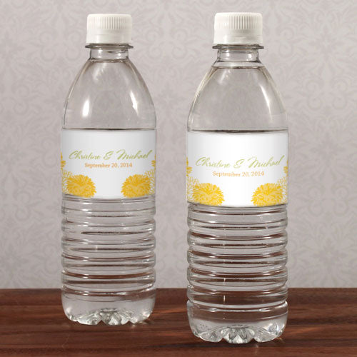 Zinnia Bloom Water Bottle Label Plum (Pack of 1)