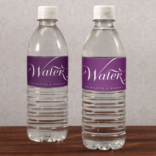 Expressions Water Bottle Label Vintage Pink Text With White Background (Pack of 1)