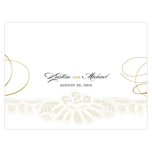 Vintage Lace Note Card Berry (Pack of 1)