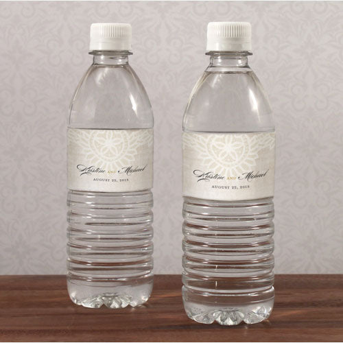 Vintage Lace Water Bottle Label Berry (Pack of 1)