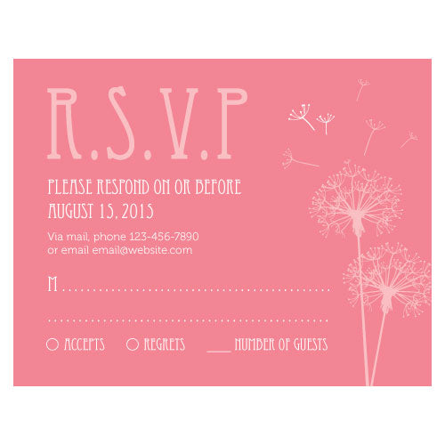 Dandelion Wishes RSVP Berry (Pack of 1)