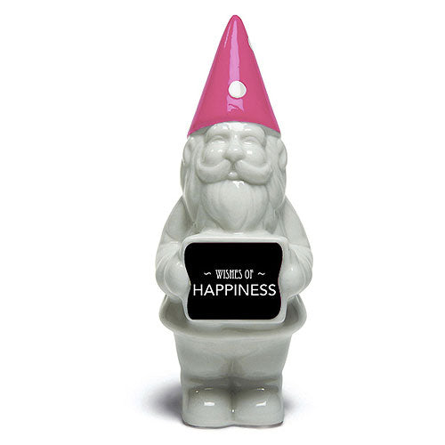 Personalised Sticker For Miniature Gnome Sign Silver (Pack of 1)