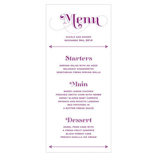 Fanciful Monogram Menu Indigo Blue (Pack of 1)