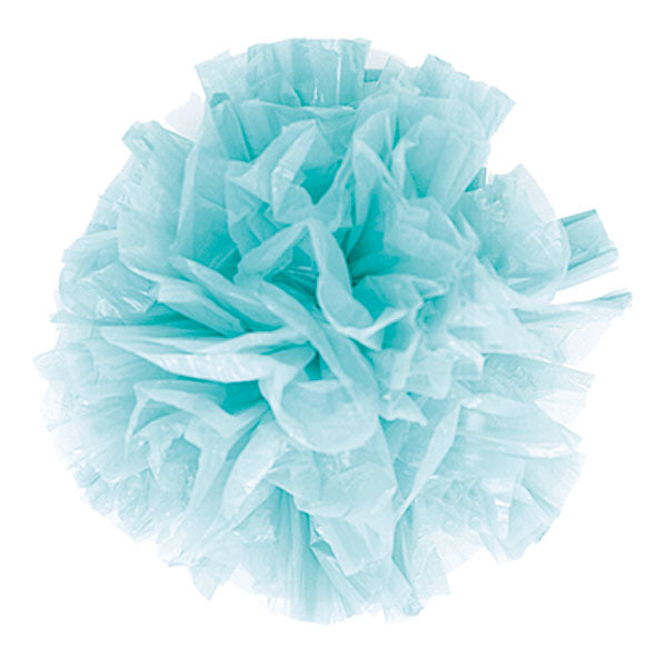 Just Fluff Colored Plastic Poms Package of 25 Poms Black (Pack of 1)
