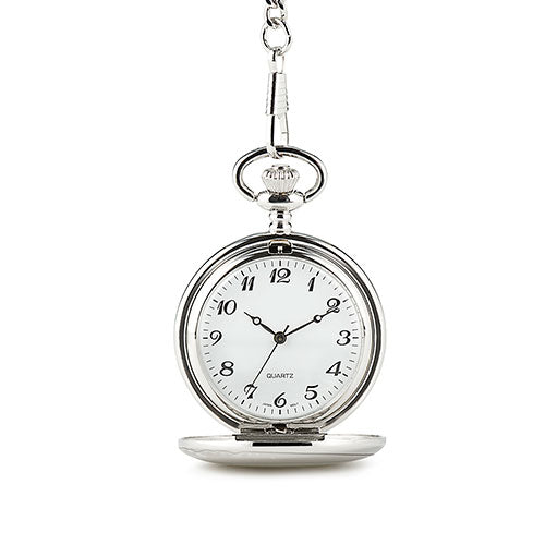 Personalized Pocket Watch and Fob - Silver (Pack of 1)