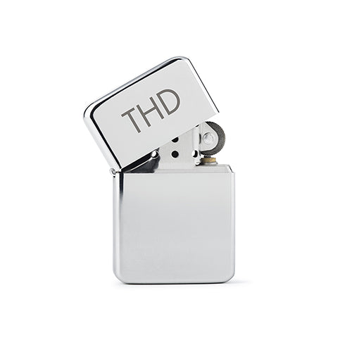 Custom Silver Windproof Lighter - Traditional Monogram Engraving (Pack of 1)