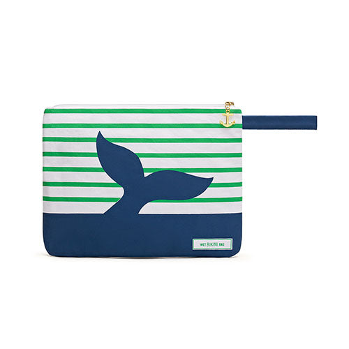 Waterproof Wet Bikini and Swimsuit Bag- Blue Whale  (Pack of 1)