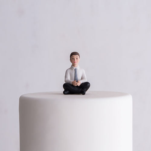 Preteen Boy Porcelain Figurine Wedding Cake Topper (Pack of 1)
