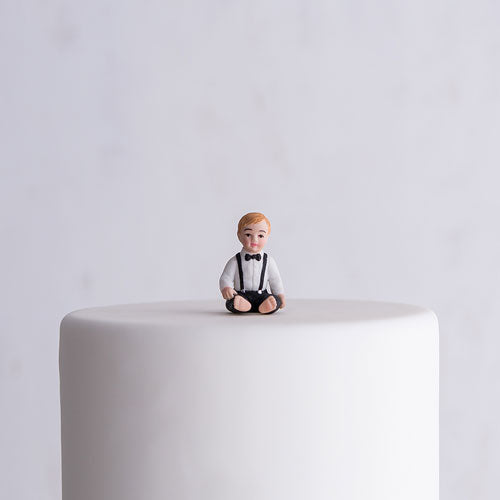 Baby Boy Porcelain Figurine Wedding Cake Topper (Pack of 1)