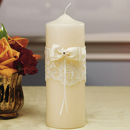 Beverly Clark French Lace Collection Unity Candle Ivory (Pack of 1)