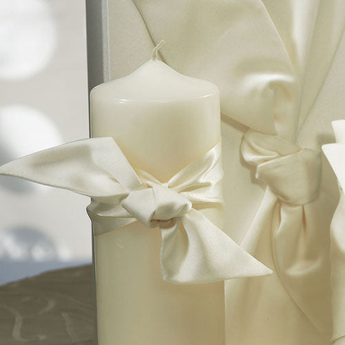 Beverly Clark Tie the Knot Collection Unity Candle White (Pack of 1)