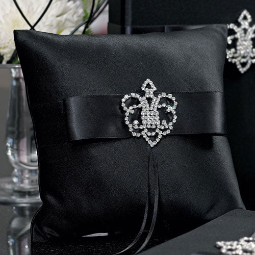 Beverly Clark The Crowned Jewel Collection Ring Pillow Black (Pack of 1)