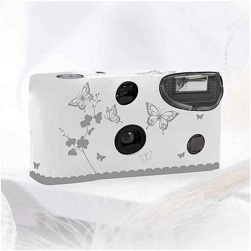 Disposable Camera with Flash – Silver Butterfly Garden (Pack of 1)