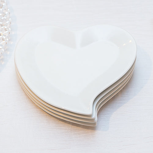 Heart Shaped Plates (Pack of 4)