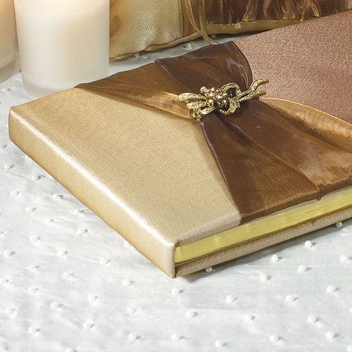 Bronze Elegance Traditional Guest Book (Pack of 1)