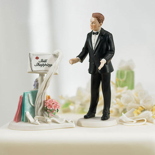 """Still Shopping"" Message Board Mix & Match Cake Topper Ethnic Groom (Pack of 1)"