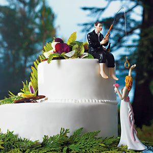 """Hooked on Love"" Groom Figurine Bride ""Reaching for Her Star"" (Pack of 1)"