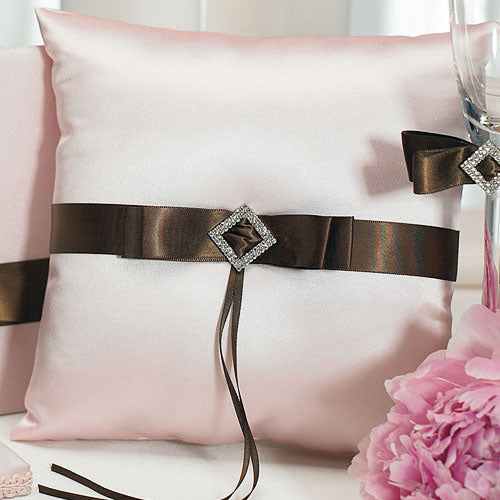 Chocolate & Strawberry Cream Square Ring Pillow (Pack of 1)