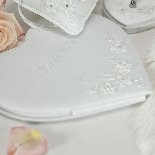 Floral Fantasy Heart Shaped Guest Book (Pack of 1)