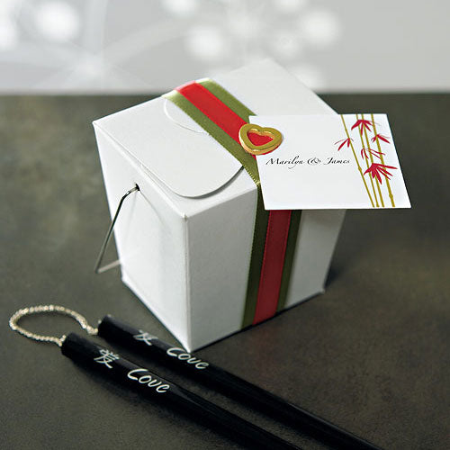 Asian Take Out Boxes - White (6) (Pack of 6)