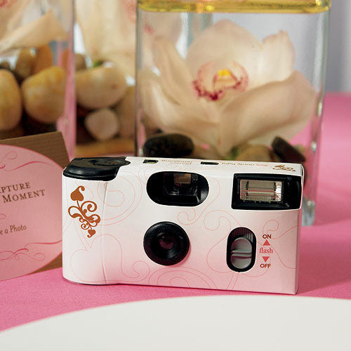 Disposable Camera with Flash – Gold Filigree (Pack of 1)