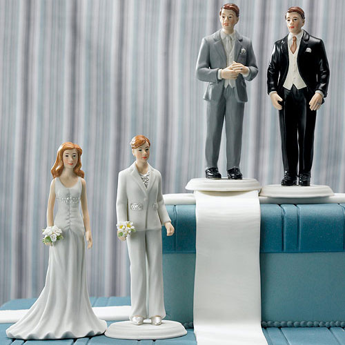 Fashionable Groom In Grey Tux Cake Topper (Pack of 1)