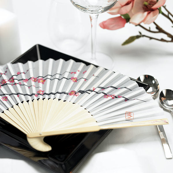 Cherry Blossom Hand Fans (6) (Pack of 6)