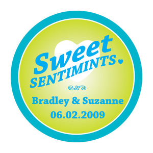 """Sweet Sentimints"" Stickers (Pack of 1)"