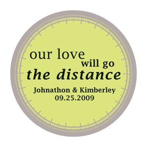 """Our Love Will Go the Distance"" Stickers Indigo Blue (Pack of 1)"