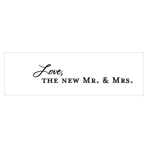 """Love, the New Mr. & Mrs."" Confetti Cards Indigo Blue (Pack of 1)"