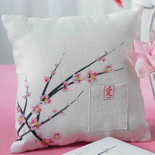 Cherry Blossom Square Ring Pillow (Pack of 1)