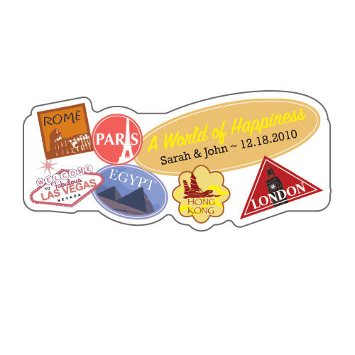 World of Happiness Sticker (Pack of 1)