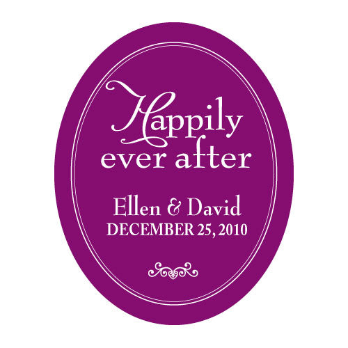 Happily Ever After Frame Sticker Indigo Blue (Pack of 1)