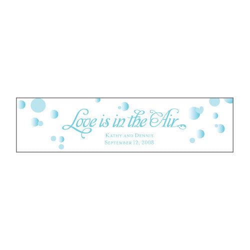 Love is in the Air Bubble Sticker Indigo Blue (Pack of 1)